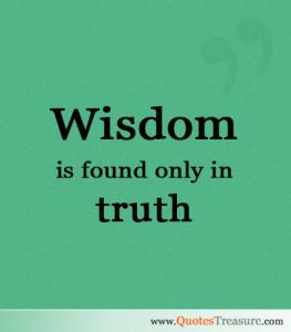 Trurh wisdon