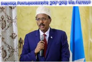 shakhsiga Puntlandobserver 2017-2018 Farmaajo